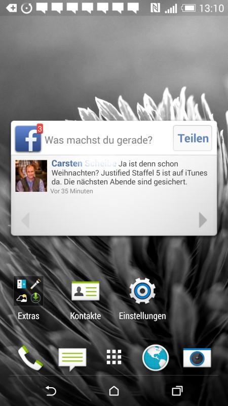 HTC Desire EYE Startbildschirm