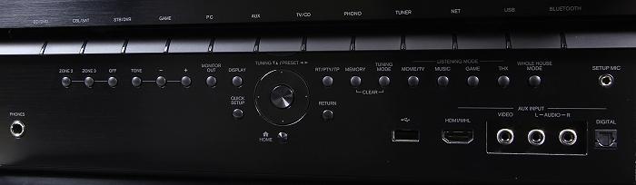 Onkyo TX-NR3030 Bedienelemente Frontklappe1