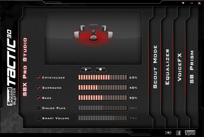 Creative Sound Blaster Systemsteuerung 2