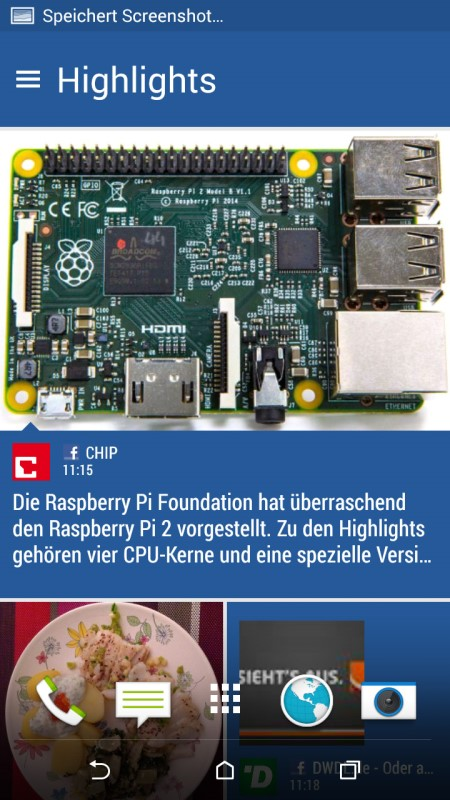 HTC Desire 820 BlinkFeed