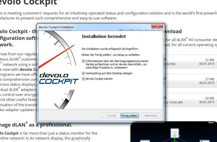 devolo_cockpit_install_fertig