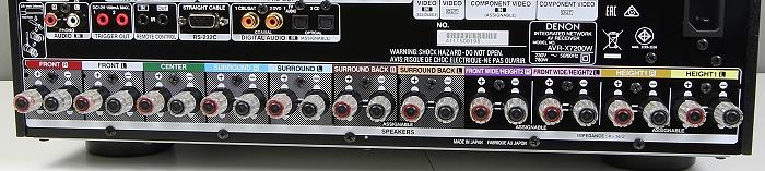 Denon AVR-7200W Anschluesse Rueckseite1
