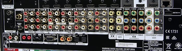 Denon AVR-7200W Anschluesse Rueckseite2