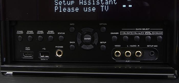 Denon AVR-7200W Bedienelemente Frontklappe