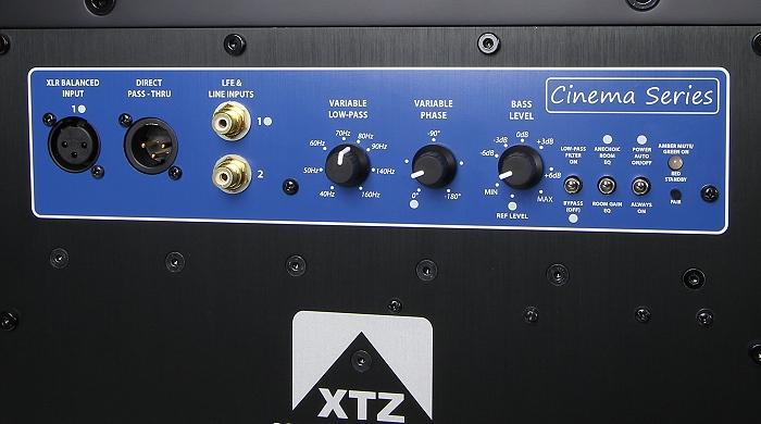 XTZ Cinema Series SUB 1X12 Anschluesse