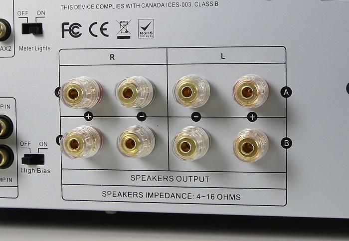 Advance Acoustic X-i120 Anschluesse Rueckseite2