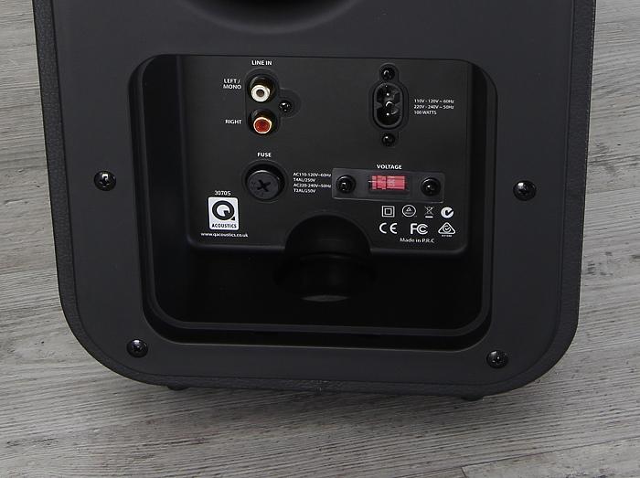 Q-Acoustics 3000 Serie 3070S Anschluesse Rueckseite