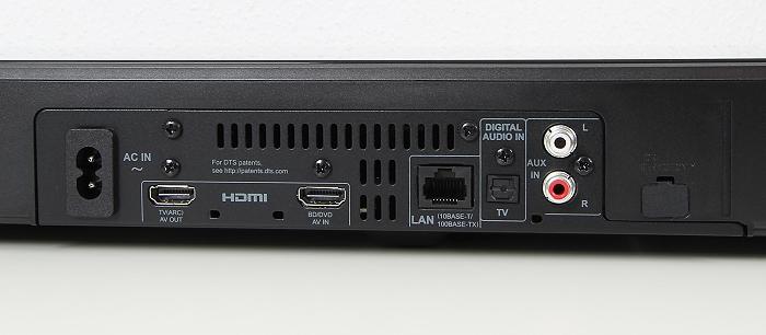 Panasonic SC-ALL30T Anschluesse Rueckseite