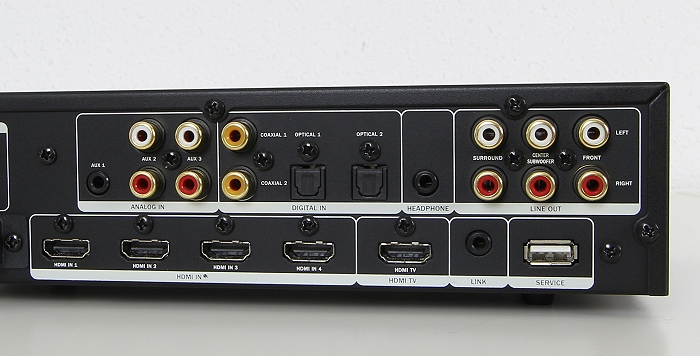 Teufel Ultima 40 Surround Complete Decoderstation 6 Anschluesse Rueckseite1