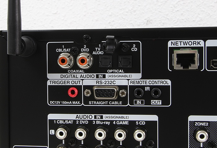 Denon AVR-X3200W Anschluesse Rueckseite3