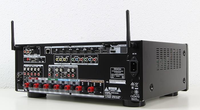 Denon AVR-X3200W Rueckseite Seitlich2