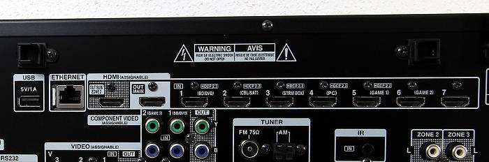 Onkyo TX-RZ900 Anschluesse Rueckseite3