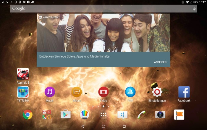 Sony Xperia Z4 Tablet Screenshot