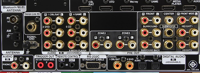 Denon AVR-X6200W Anschluesse Rueckseite2