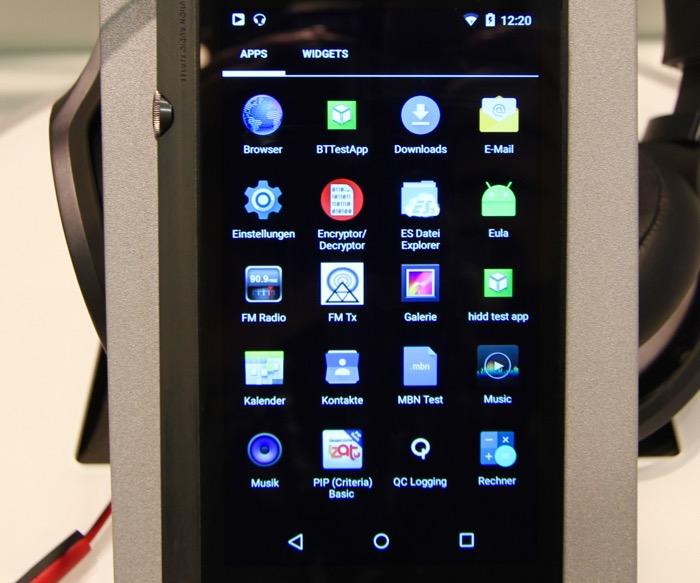 Pioneer XDP-100R Android Menu