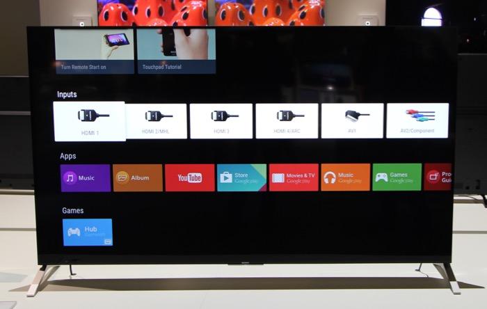 Sony KD-75X91C Menue Inputs
