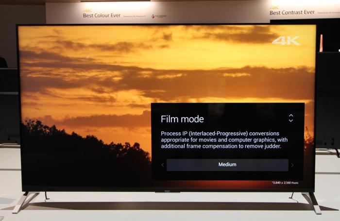 Sony KD-75X91C VideoEQ Filmmode