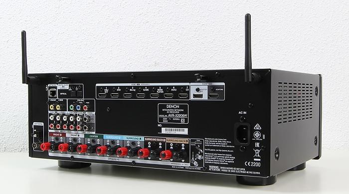 Denon AVR-X2200W Rueckseite Seitlich