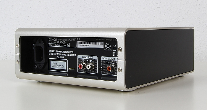 Denon DCD-50 Rueckseite Seitlich