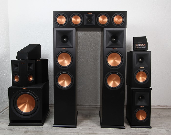 xxl test klipsch premiere ls serie rp 280fa atmos stand. Black Bedroom Furniture Sets. Home Design Ideas