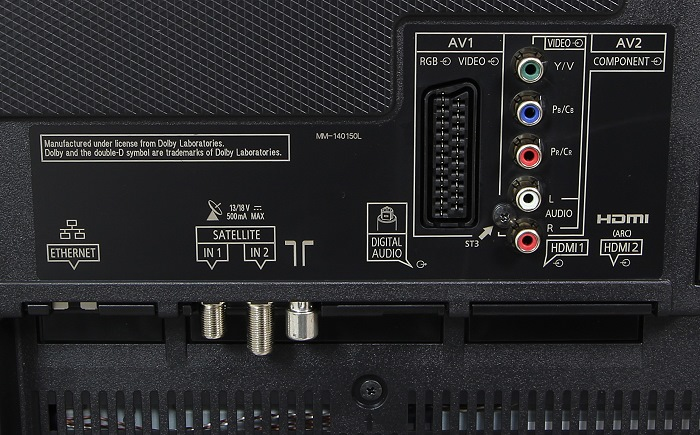 Panasonic TX-55CXW804 Anschluesse Rueckseite2
