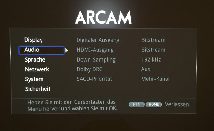 arcam_udp411_menu2