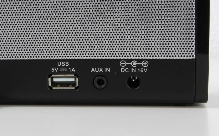 Grundig GSB 600 NFC Anschluesse Rueckseite