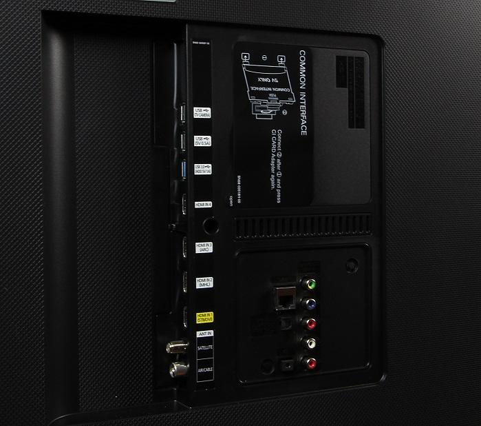 Samsung UE65JU6550 Anschluesse Rueckseite Gesamt