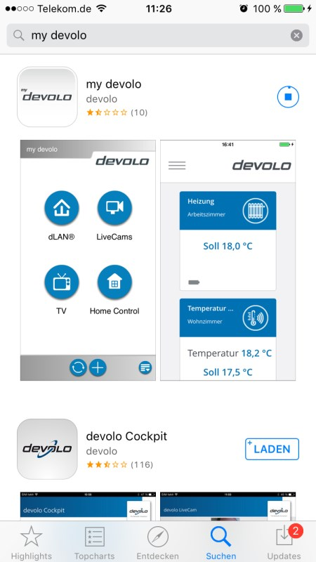 Devolo my devolo App 1