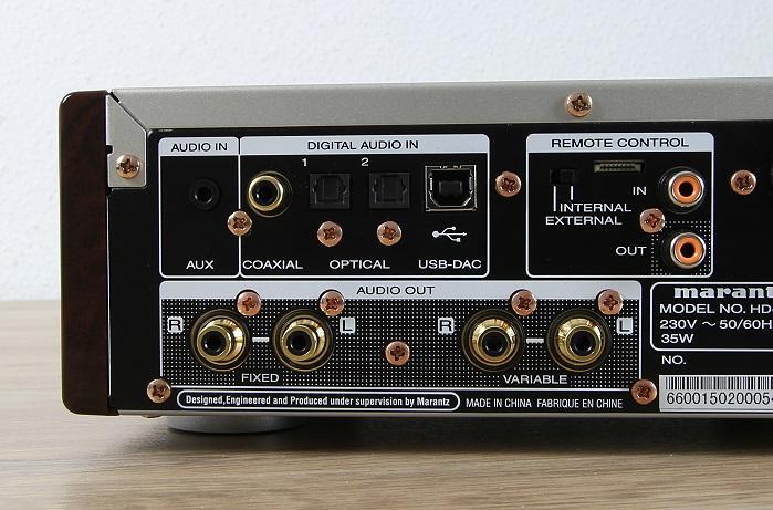 Marantz HD-DAC1 Anschluesse Rueckseite