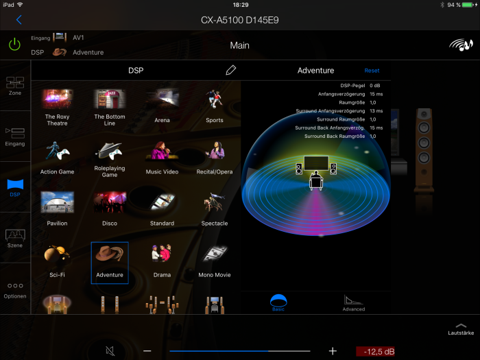 Apple iPad Pro Screenshot Yamaha AV Control