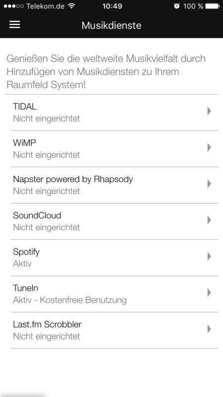Raumfeld App 23