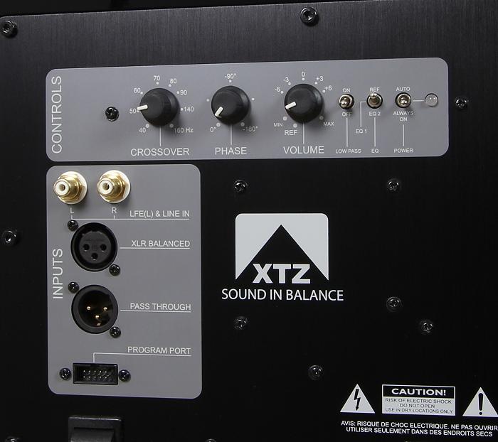 XTZ Sub 12.17 Anschluesse Bedienelemente