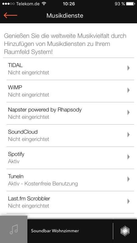 Raumfeld App 16