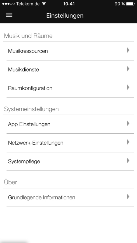 Raumfeld App 17