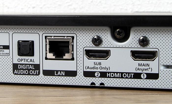 Samsung UBD-K8500 Anschluesse Rueckseite
