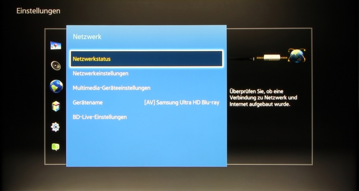Samsung UBD-K8500 Screenshot 9