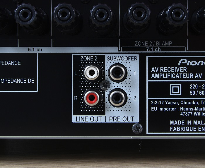 Pioneer VSX-1131 Anschluesse Rueckseite3