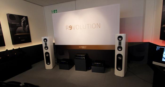 special r9volution quadral aurum r9 baureihe auf der high end in m nchen area dvd. Black Bedroom Furniture Sets. Home Design Ideas