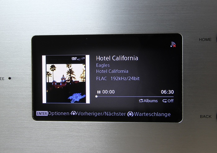 Sony HAP-Z1ES Display