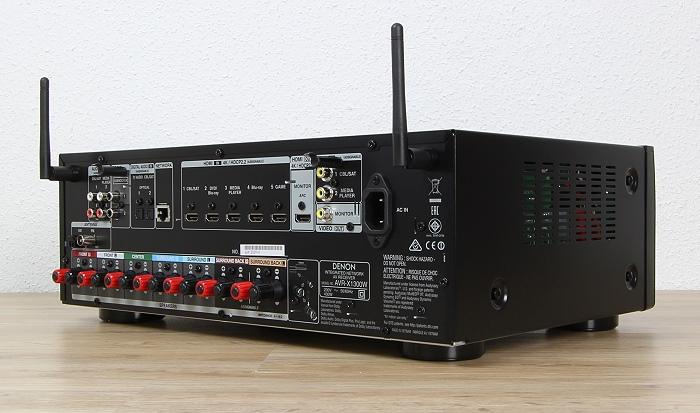 Denon AVR-X1300W Rueckseite Seitlich