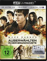 Maze Runner - Die Auserwaehlten in der Brandwueste Ultra HD Blu-ray