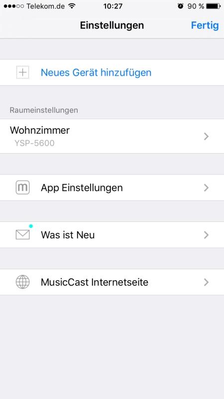 Yamaha MusicCast App 7