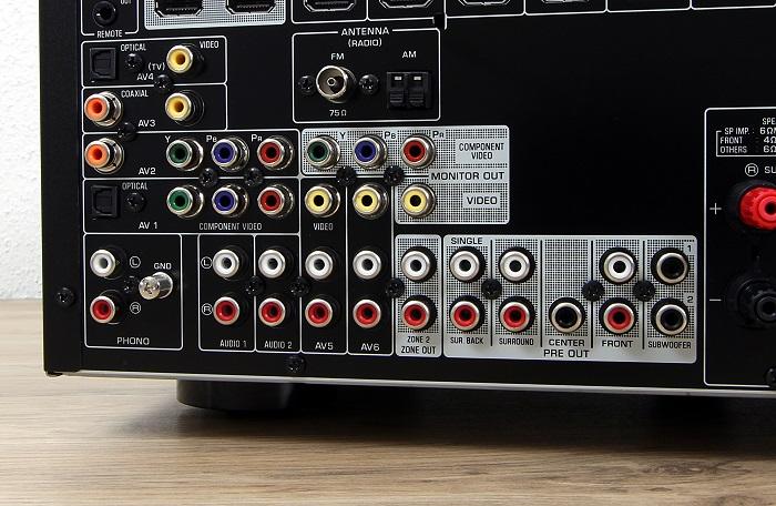 Yamaha RX-A860 Anschluesse Rueckseite2
