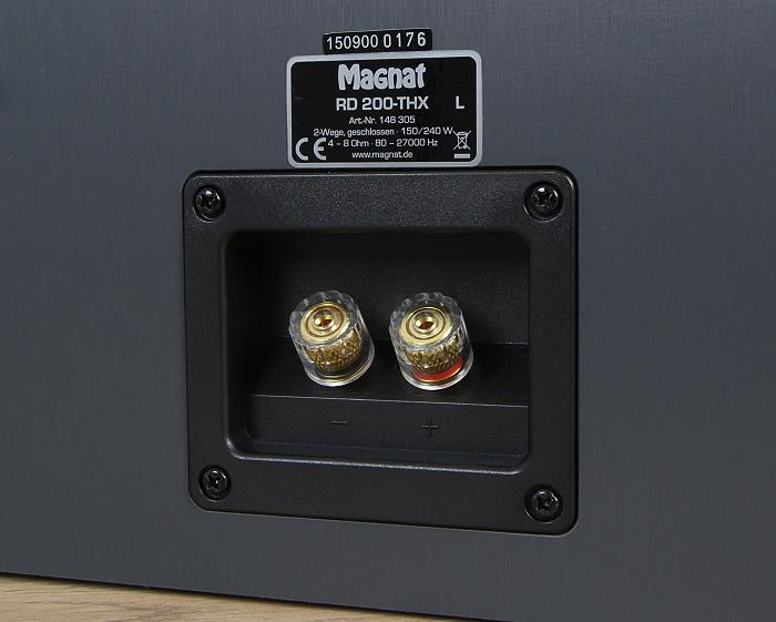 Magnat Cinema Ultra THX RD 200-THX Anschluesse