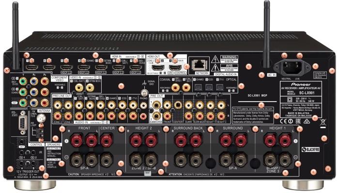 Pioneer SC-LX901 Back