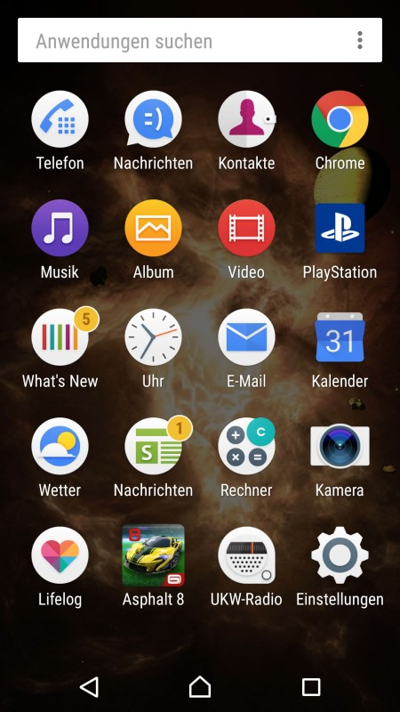 Sony Xperia X Screenshot II