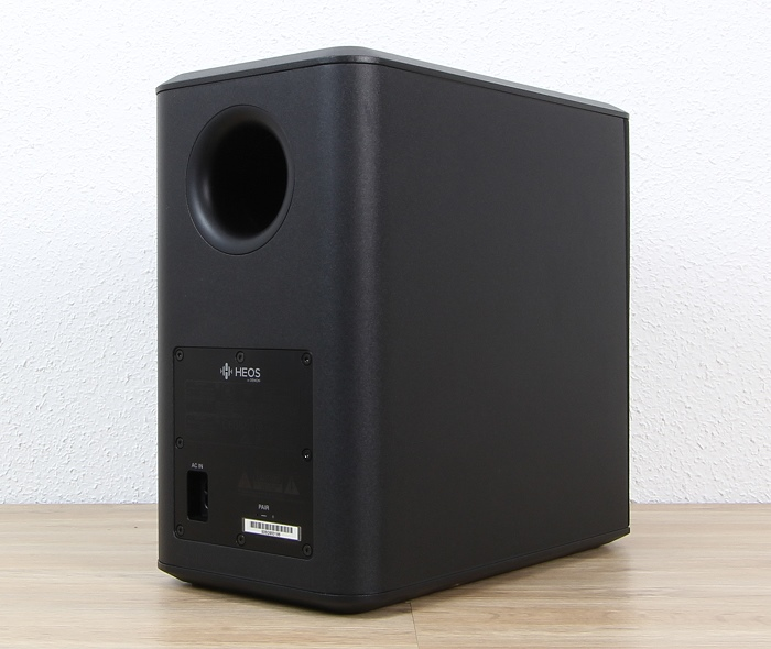 Heos by Denon HomeCinema Subwoofer Rueckseite