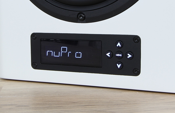 Nubert nuPro A-300 Display Bedienelemente