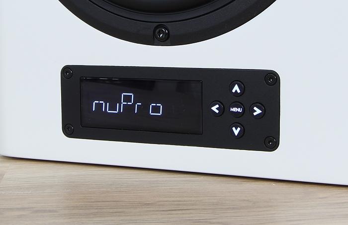 Nubert nuPro A-300 Display Bedienelemente